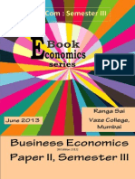 SYBCom Semster III Business Economics 2014-15