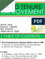 AgraLaw - Land Tenure Improvement