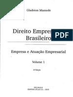 ''Direito Empresarial Brasileiro'' -Gladston Mamede(Vl.01)