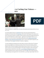 3 Approaches to Curbing Gun Violence - Using Economics