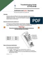 CTTG140 - Option Module Trip Codes