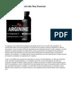 Arginina, Un Aminoácido Muy Esencial