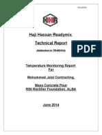 Mass Concrete Temperature Monitoring Example