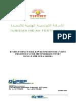 Etude Impact Sur l Environnement de l Usine Acide Tunisie