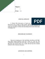 Judicial Affidavit for Anti-Traficking