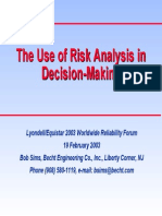 Risk Based Decision Making