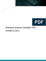 Business Systems Transition Plan 609
