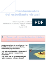 Los 5 mandamientos del estudiante virtual