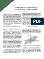 Response spectrum analysis of girder bridges with seismic isolators using effective stiffness