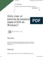 W7 Cómo Crear Un Pendrive de Instalación Desde El DVD de Windows 7