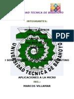 Configuracion de Páginas Aplicaciones a La Micro