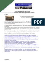 Conclusions LIBRES et acte de gestion anormal