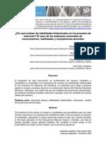 _Por Qué Evaluar Las Habilidades Intelectuales en Los Procesos de Selección El Caso de Los Exámenes Nacionales de Conocimientos, Habilidades y Competencias Docentes