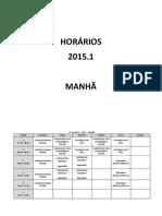 Horarios Manha