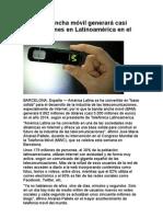 La banda  ancha un buen negocio en latino america