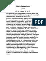 Diario Pedagógico de Practica