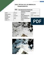 Propiedades Opticas de Minerales Transparentes