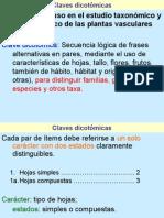 Claves Dicotómicas