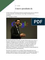Quien Es El Nuevo Presidente de Google
