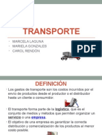 PRESENTACION TRANSPORTE