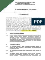 Bb Edital de Credenciamento de Avaliadores 2013 1