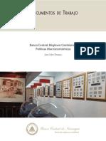 Treminio, Juan 2014 Banca Central, Regimen Cambiario y Politicas Macroeconomicas