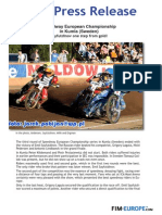 Press Release 212 2015 SEC in Kumla Sweden