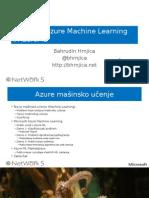 Uvod u Microsoft Azure Machine Learning