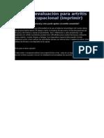 Ficha de Evaluación Para Artritis Terapia Ocupacional