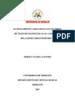 El Pensamiento Variacional en Los Libros de Texto de Matemáticas. El Caso de Las Relaciones Trigonométricas