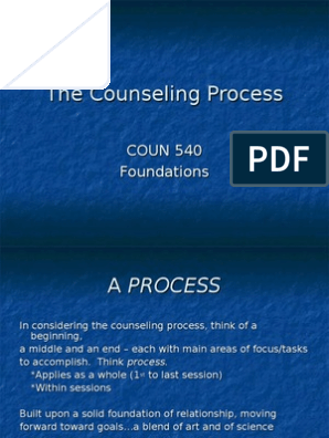 The Counseling Process   School Counselor   Psychological