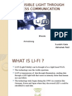 Li-fi –Visible Light Through Wireless Communication