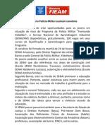 SENAI e Polícia Militar Assinam Convênio Com