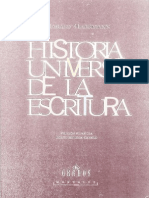 Historia Universal de La Escritura Ed. Gredos 2001