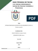ENTIDAD PRESTADORA DE SERVICIOS DE SANEAMIENTO TACNA S.A.