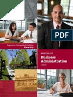 Norwich MBA Brochure