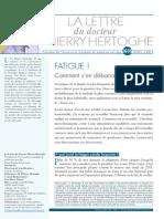 Lettre N°5  Fatigue  AVR2013