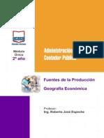 2o Ano - Fuentes de La Produccion - Geografia Economica - Todas Las Sedes