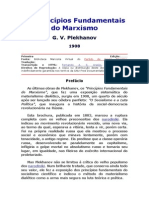 Plekhanov G. v. - Os Princípios Fundamentais Do Marxismo