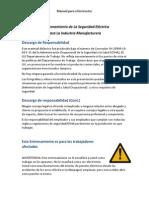 OSHA-manual de Seguridad Eléctrica-español