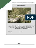 Perfil del Proyecto I.E.I. 147- Caype- Lambrama.doc