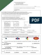 Examen Diagnostico Ciencias 3. 15-16