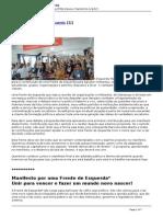 Esquerda Marxista - Por Uma Frente de Esquerda - 2015-06-08
