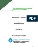 Aplicaciones de Ecologia Industrial en La Gestion de Residuos