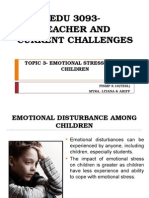 Edu 3093 Topic 3 Emotional Disturbances Among Children