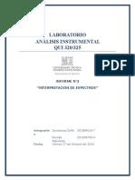 Informe análisis instrumental