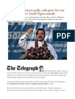 As Sri Lanka Goes to Polls, Calls Grow for War Crimes Trial Over Tamil Tigers Assault