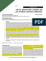 Absorcion Capilar Hormigón.