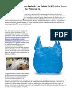 La UE Legislará Para Reducir Las Bolsas De Plástico Hasta cuarenta Unidades Por Persona En