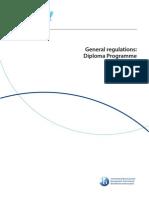General Regulations Diploma Programme IB